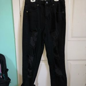 Mossimo high rise black mom jeans